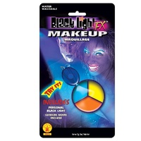 Black Lite Make Up Tri-Colours Blue, Orange, Yellow
