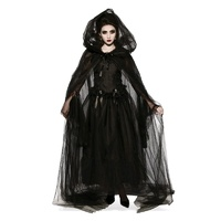 Hooded Black Cape Adult Costume Accessory