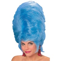 Bee Hive Blue Adult Wig