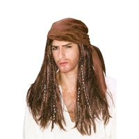 Caribbean Pirate Adult Wig