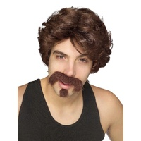 Big John Wig and Facial Hair Set Adult Costume Accessory