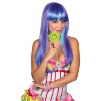 Candy Babe Purple Adult Wig