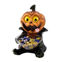 Pumpkin Candy Bowl Holder Decoration Prop
