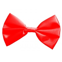 Bow Tie Satin Red Costume Accessory