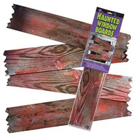 Haunted Window Boards Blood Stained Halloween Decoration Prop