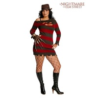 A Nightmare On Elm Street Freddy Krueger Miss Kreuger Adult Plus Size Costume