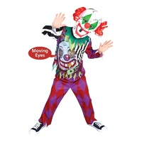 Scary Clown Lenticular Child Costume