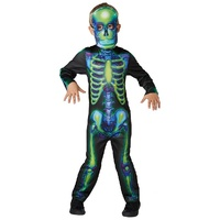 Neon Skeleton Glow In The Dark Child Costume