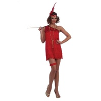 Ruby Red Sexy Dazzle Flapper Adult Costume