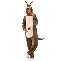 Kangaroo Furry Jumpsuit Adult Costume