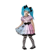 Little Blue Skelly Girl Child Costume