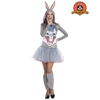 Looney Tunes Bugs Bunny Hooded Tutu Adult Costume