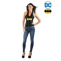 Batgirl Leather-Look Corset Adult Costume