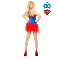 Supergirl Skirt With Sequin Teen Costume