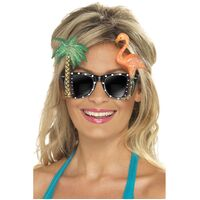 Flamingo and Palm Tree Glasses