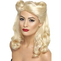 40's Pin Up Blonde Adult Wig