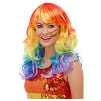 Rainbow Glam Adult Wig
