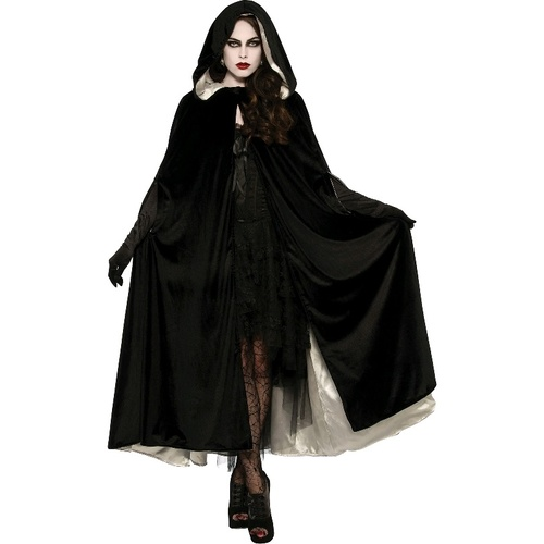 Reversible Black and White Adult Cape