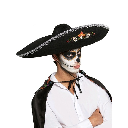 Day Of The Dead Sombrero Adult Costume Accessory